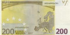 200 евро 2002 г. (Европейский союз).