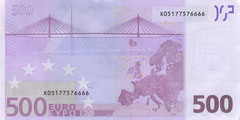 500 евро 2002 г. (Европейский союз).