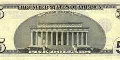 5 долларов 2006 г. 1 вариант (США)