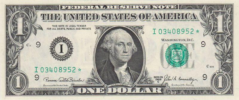 1 доллар 1969 г. (США)