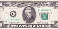 20 долларов 1969 г. (США)