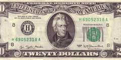 20 долларов 1977 г. (США)