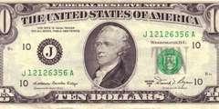 10 долларов 1981 г. (США)