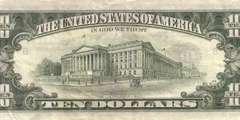 10 долларов 1985 г. (США)