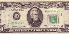 20 долларов 1985 г. (США)