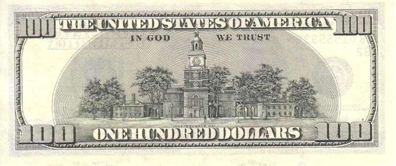 100 долларов 1996 г. (США) - США - Бонистика
