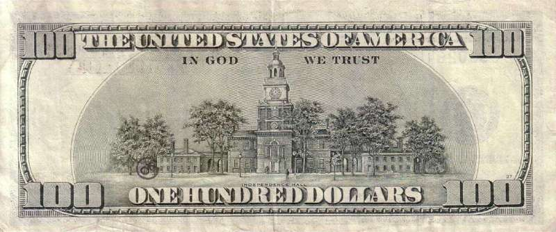 100 долларов 1999 г. (США) - США - Бонистика