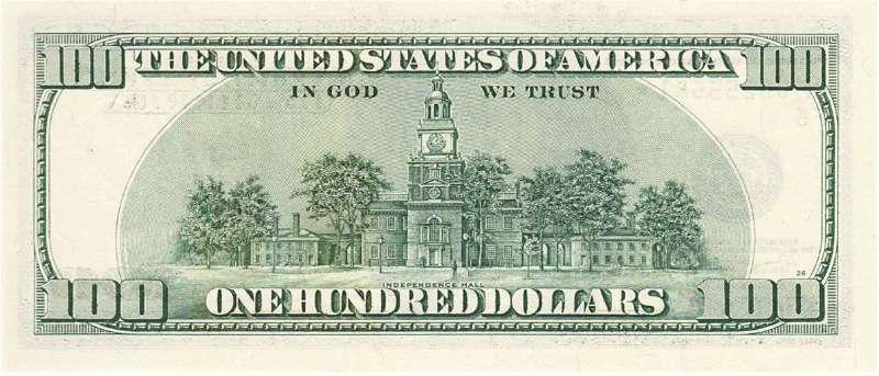 100 долларов 2001 г. (США) - США - Бонистика