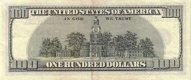 100 долларов 2003 г. (США) - США - Бонистика