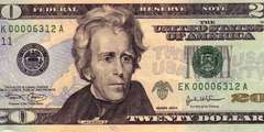 20 долларов 2004 г. (США)