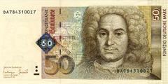 50 немецких марок 1996 г. (Германия).