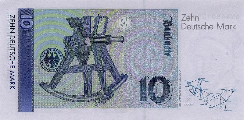 10 немецких марок 1989 г. (Германия).