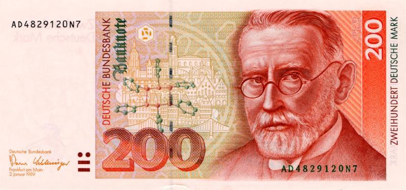 200 немецких марок 1989 г. (Германия).