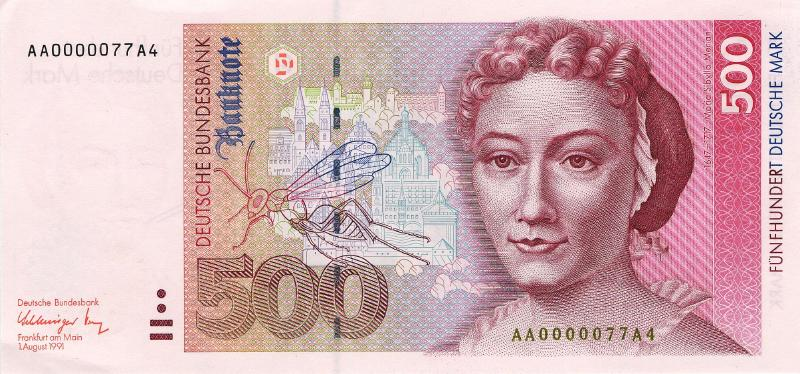 500 немецких марок 1991 г. (Германия).