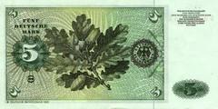 5 немецких марок 1970 г., 1980 г. (Германия).