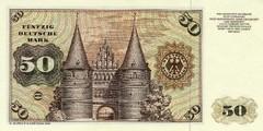 50 немецких марок 1970 г., 1977 г., 1980 г. (Германия).