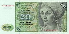 20 немецких марок 1960 г. (Германия).