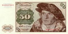 50 немецких марок 1960 г. (Германия).