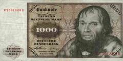 1000 немецких марок 1960 г. (Германия).