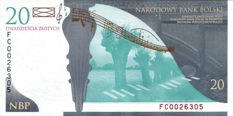20 злотых 2009 г. (Польша).