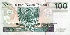 100 злотых 1994 г. (Польша).