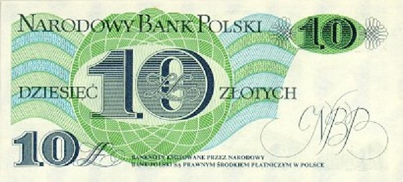 10 злотых 1982 г. (Польша).