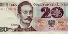 20 злотых 1982 г. (Польша).