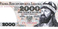 2000 злотых 1979 г., 1982 г, (Польша).