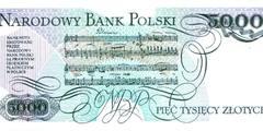 5000 злотых 1982 г., 1986 г, 1988 г. (Польша).