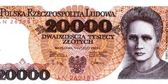 20000 злотых 1989 г. (Польша).