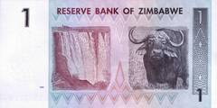 1 доллар 2007 г. (Зимбабве).