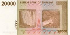 20000 долларов 2008 г. (Зимбабве).