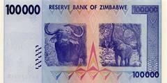 100000 долларов 2008 г. (Зимбабве).