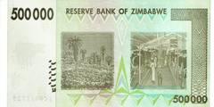 500000 долларов 2008 г. (Зимбабве).