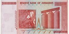 20 000 000 000 000 долларов 2008 г. (Зимбабве).