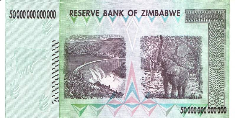 50 000 000 000 000 долларов 2008 г. (Зимбабве).