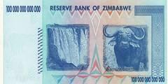 100 000 000 000 000 долларов 2008 г. (Зимбабве).