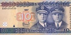 10 литов 1997 г. (Литва)