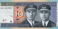 10 литов 2007 г. (Литва)