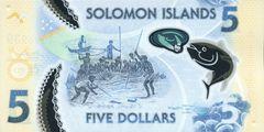 5 долларов ND(2019 г.) (Соломоновы Острова) P-NEW