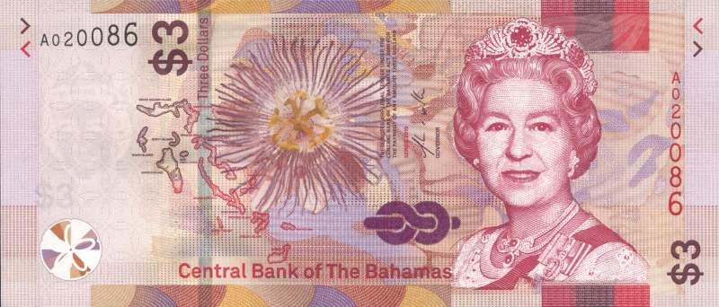3 доллара 2019 года (Багамские Острова) P-NEW