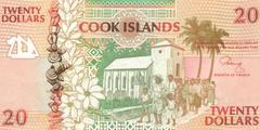20 долларов ND (1992) (Острова Кука) P-9