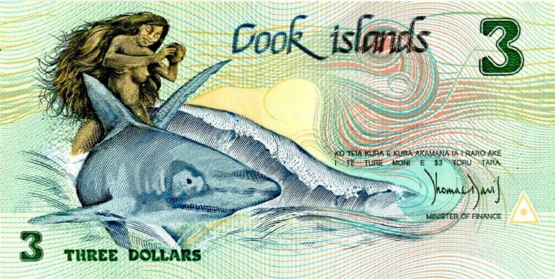 3 доллара 1992 года. (Острова Кука) P-6