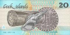20 долларов ND(1987) (Острова Кука) P-5b