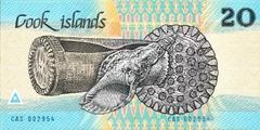 20 долларов ND(1987) (Острова Кука) P-5a