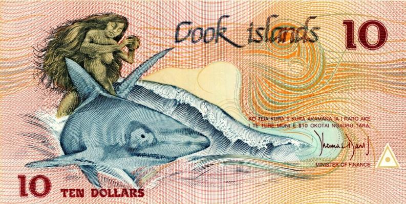 10 долларов ND(1987) (Острова Кука) P-4