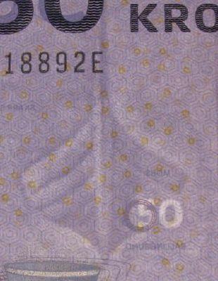 Дания 50 крон 2009 г. (2009) P-65a (Nils Bernstein, Prefixes A0)